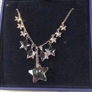 Swarovski clear crystal star necklace